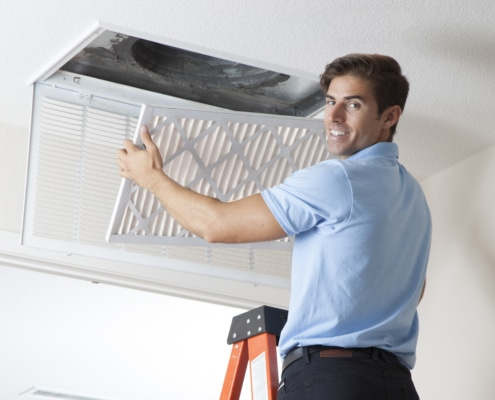 Installing Clean Air Filter